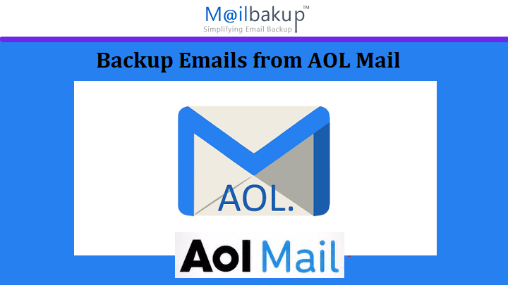 backup emails from AOL mail