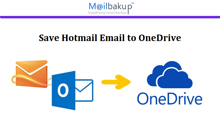 save hotmail email to onedrive
